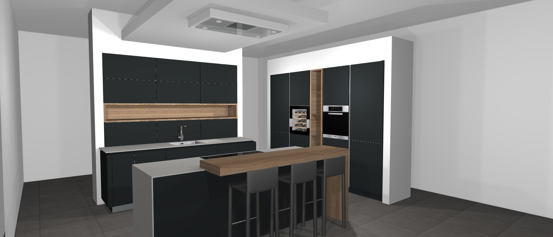 nouvelle cuisine d 39 exposition kreatis cuisine bain dressing m con. Black Bedroom Furniture Sets. Home Design Ideas